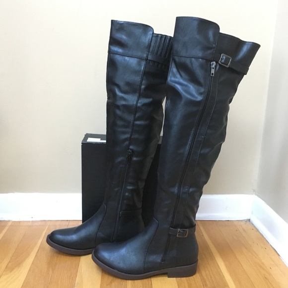5cfbc22fb92 CHASE   CHLOE Faux Leather Over the Knee Boots